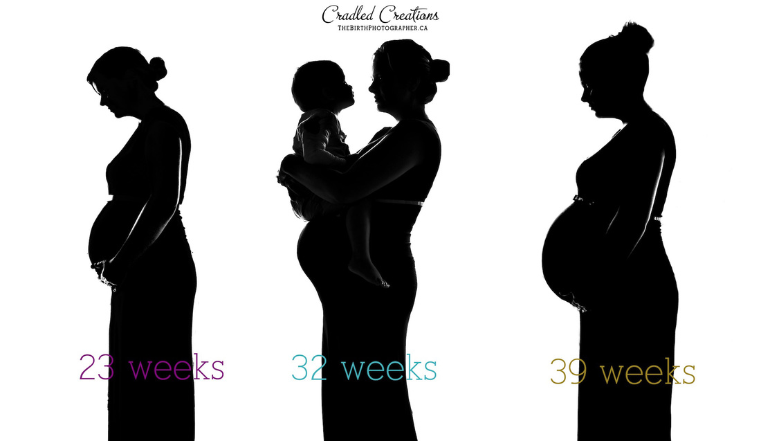 maternity progression silhouette