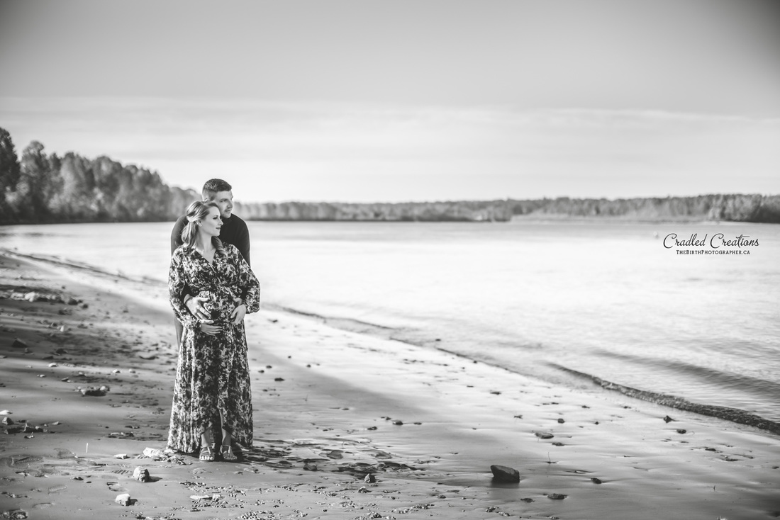 Maternity Couple on Beach