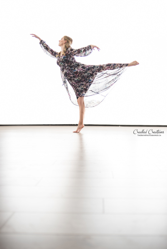 Maternity Studio Dance Photo